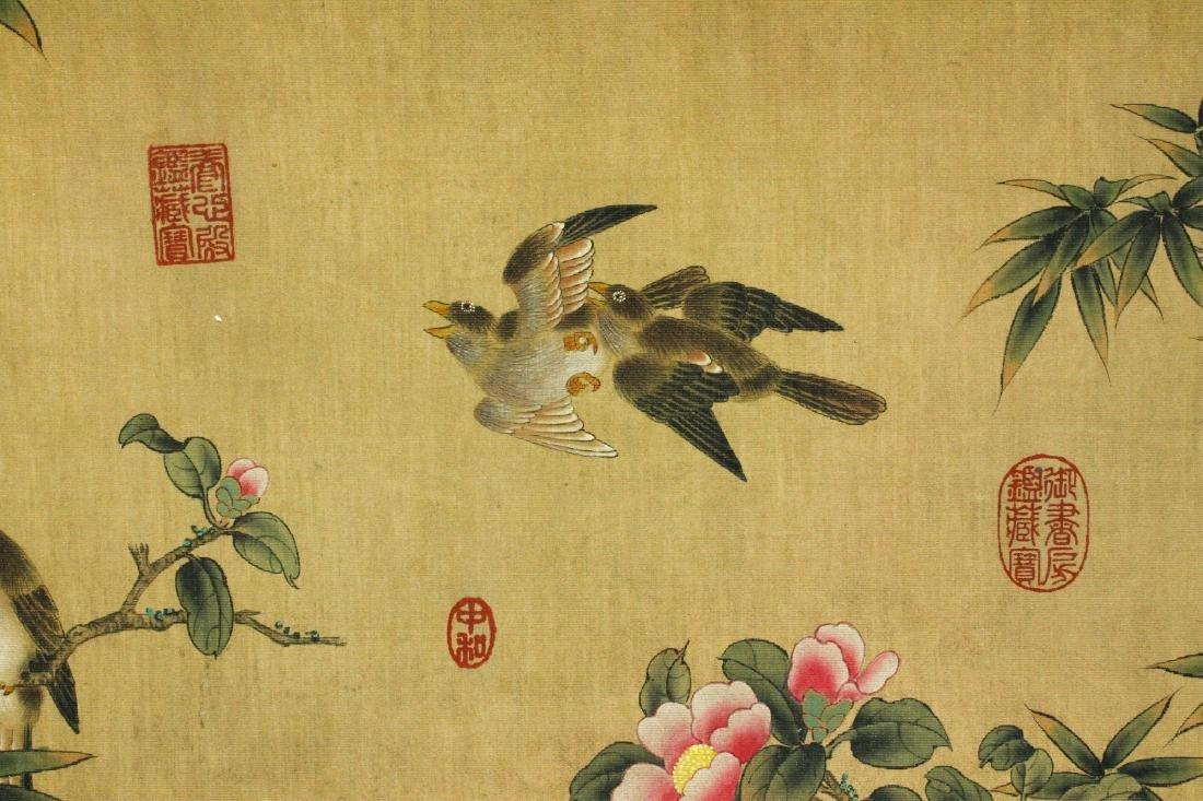 Watercolour on Silk Scroll MaYuanyu 1669-1722 - 7