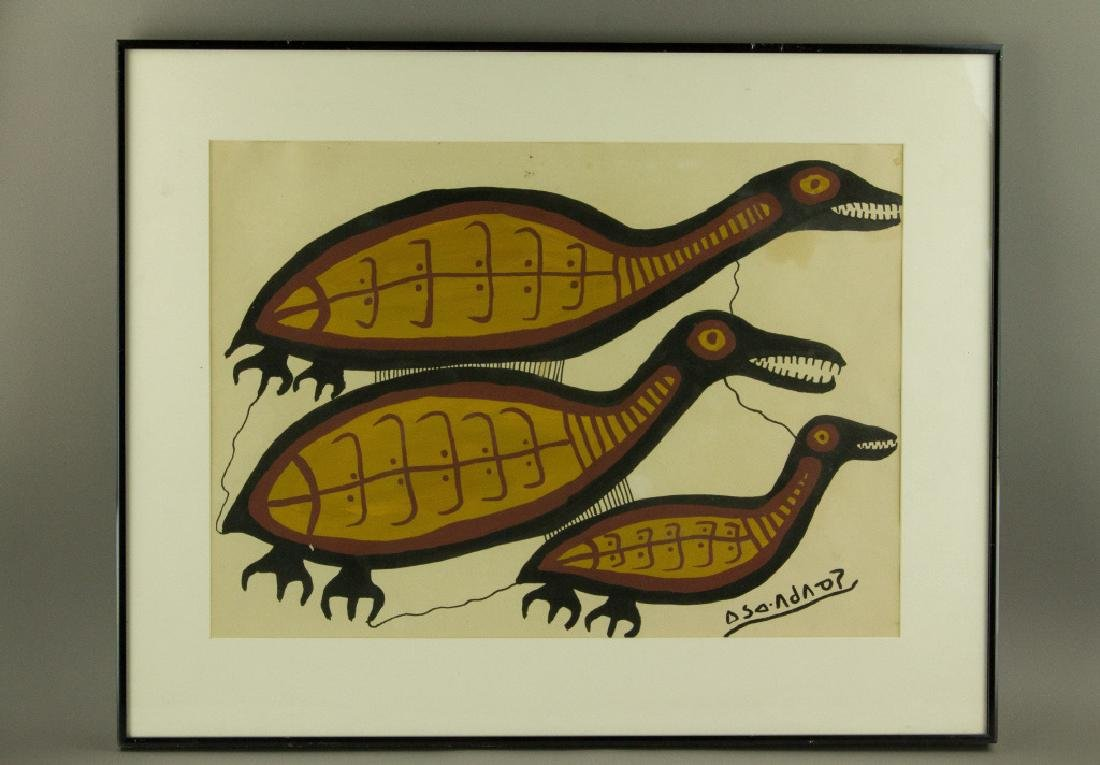 Norval Morrisseau Acrylic on Paper Canada1932-2007