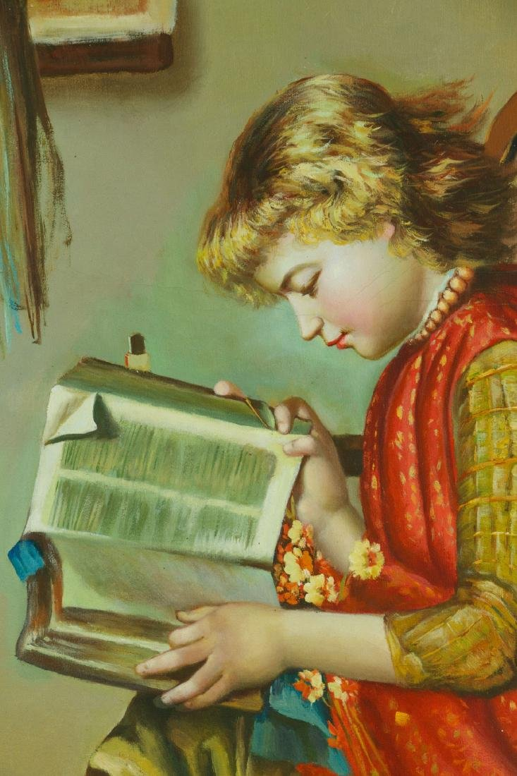 European Gilt Oil Painting On Canvas With Frame - 2