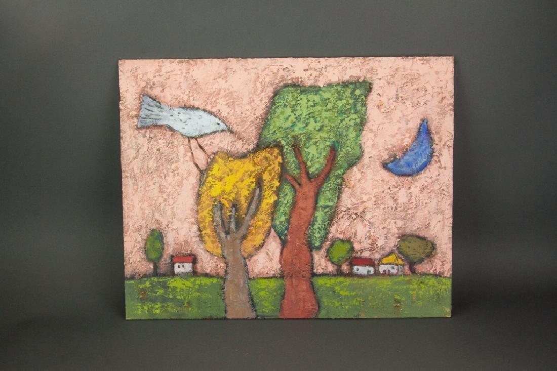 Korean Artist Oil on Board - 3