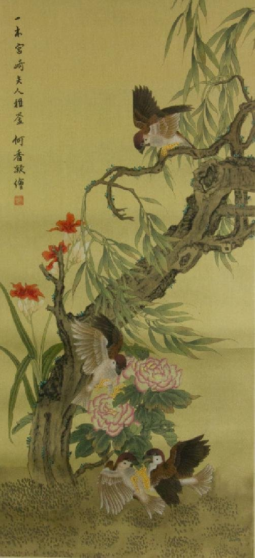 He Xiangning 1878-1972 Watercolour on Silk