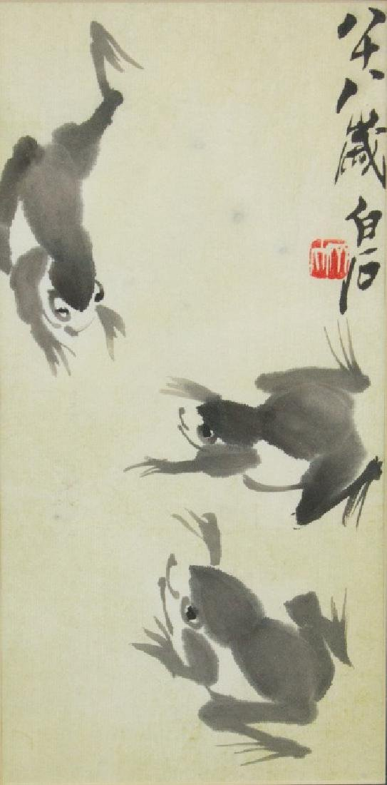 Qi Baishi 1864-1957 Chinese Ink on Paper Framed