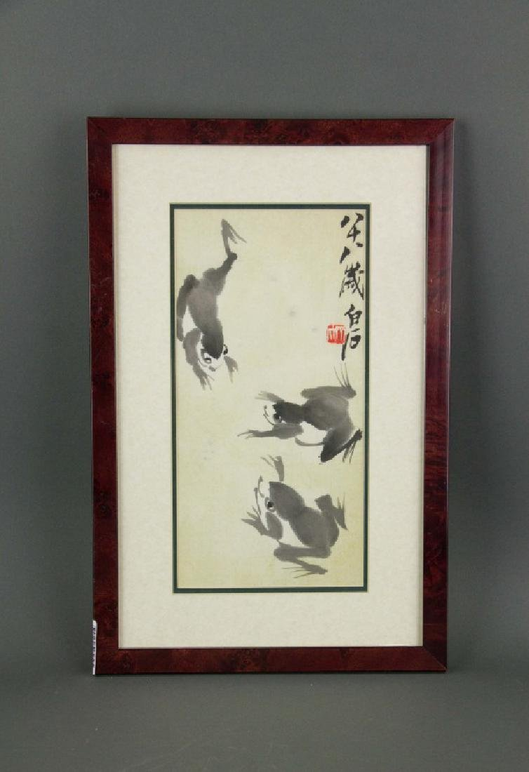 Qi Baishi 1864-1957 Chinese Ink on Paper Framed - 4