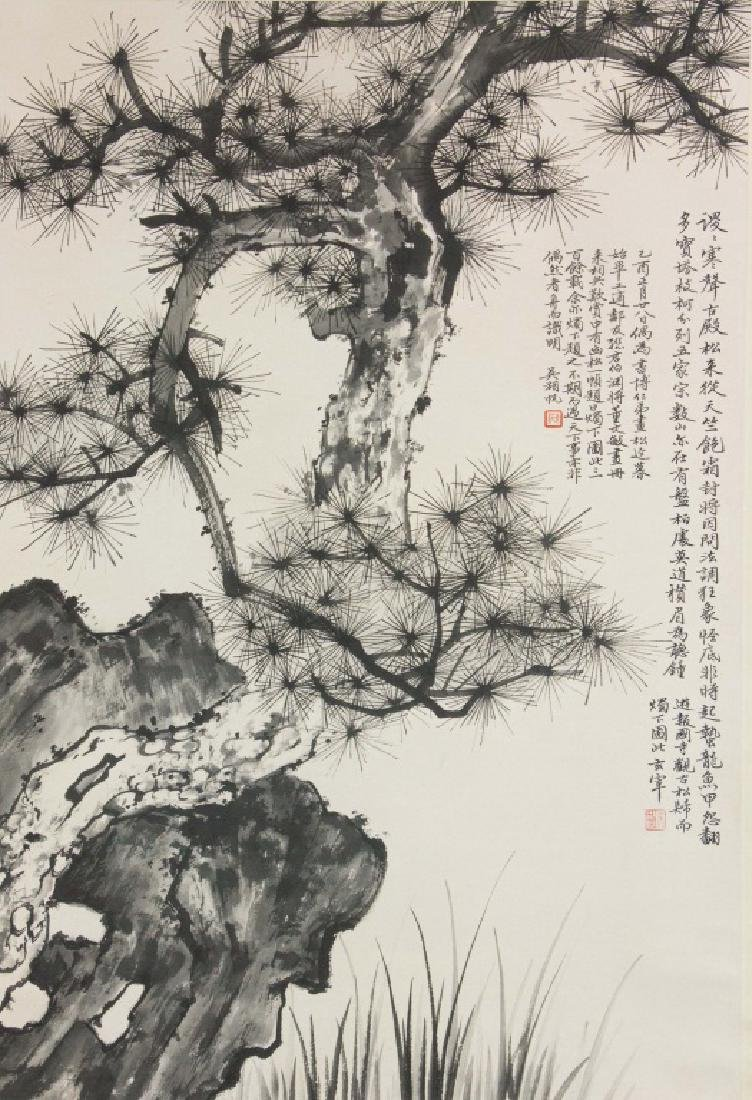 Wu Hufan 1894-1968 Chinese Ink on Paper Scroll