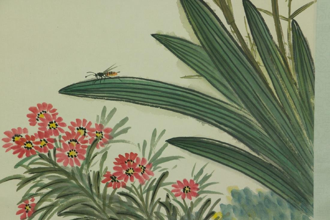 Chen Banding 1876-1970 Watercolour on Paper Scroll - 4