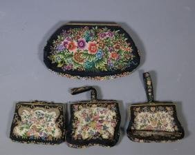 4 Pieces of Handmade Textile Purse