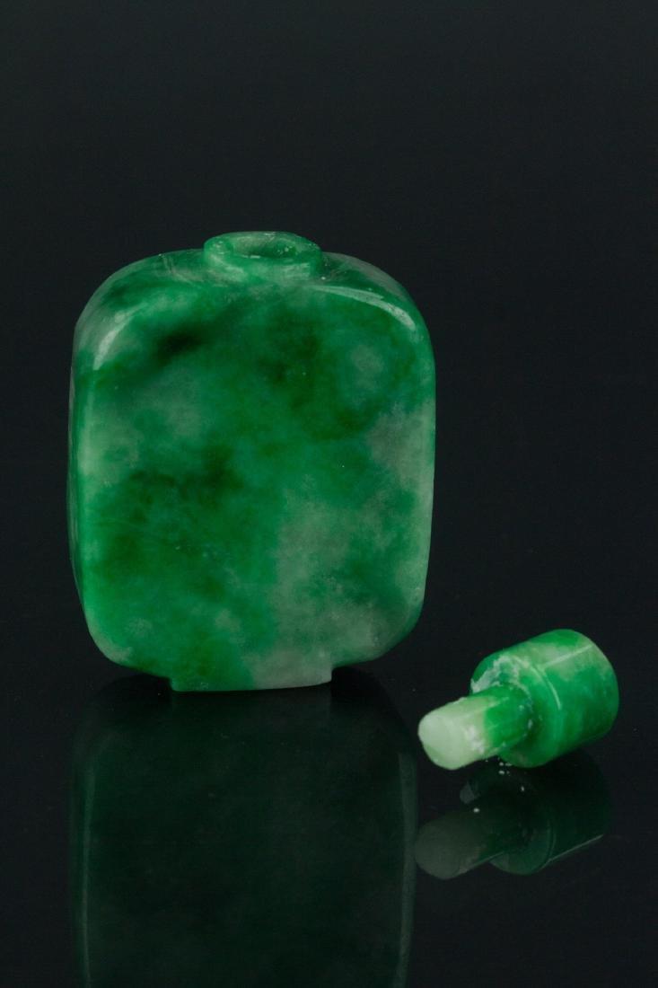 19th Century Chinese Green Jade Snuff Bottle - 3