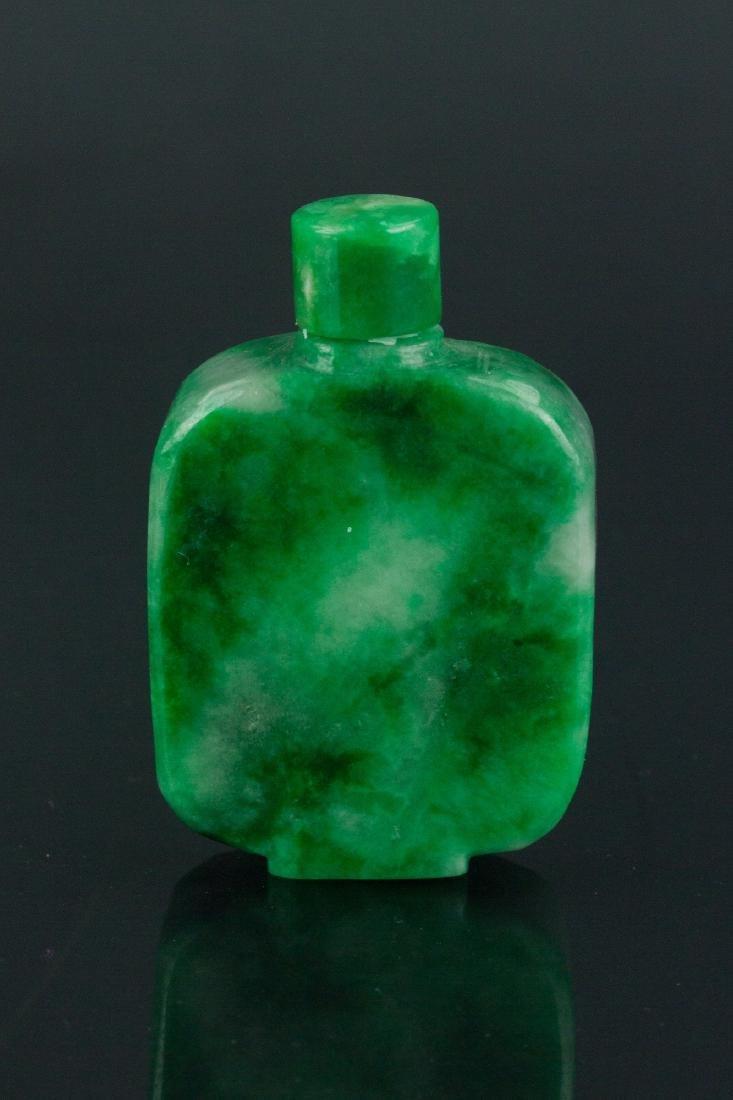 19th Century Chinese Green Jade Snuff Bottle - 4