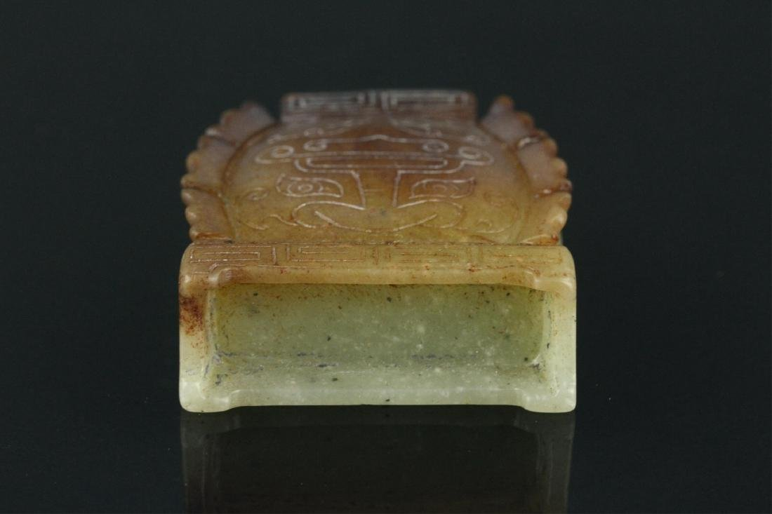 Chinese Celadon Jade Carved Snuff Bottle - 7