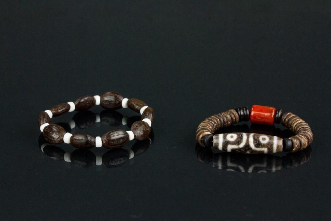 2 PC Assorted Chinese and Tibetan Bracelet