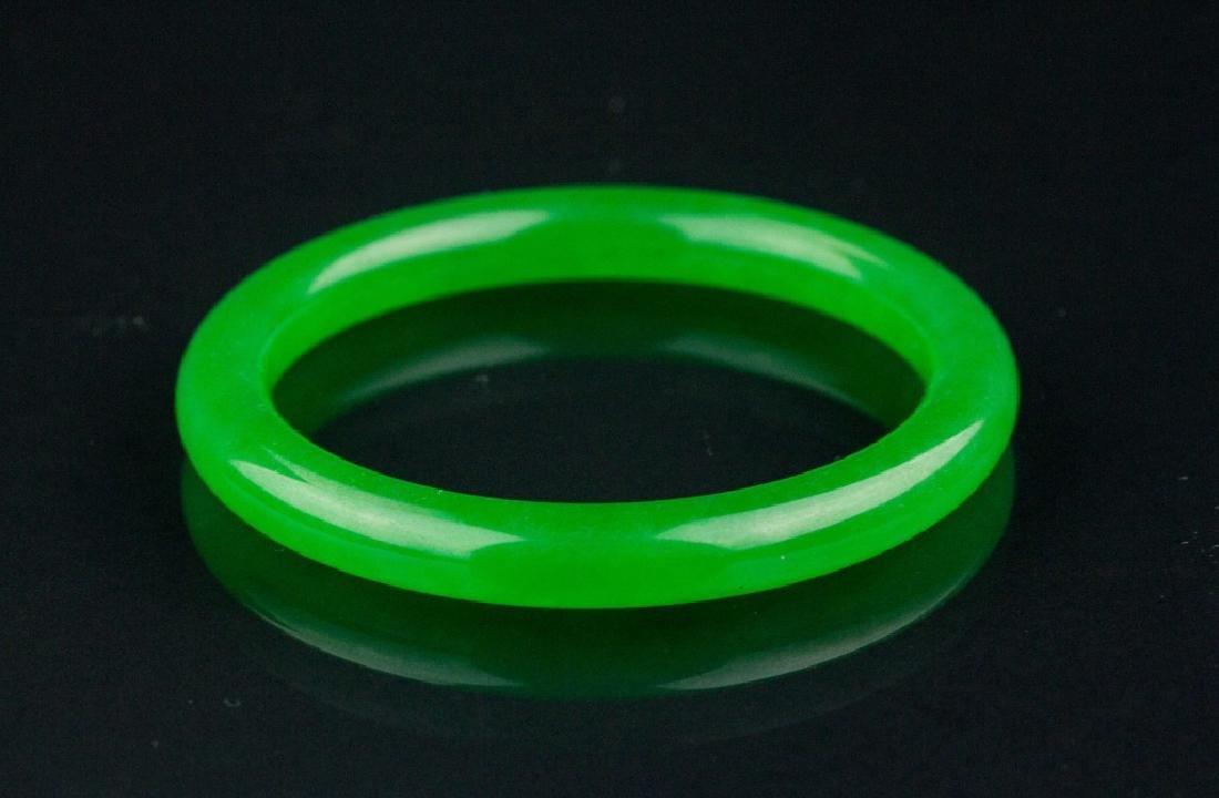 Grade AA Chinese Green Jadeite Bangle GIA Cert