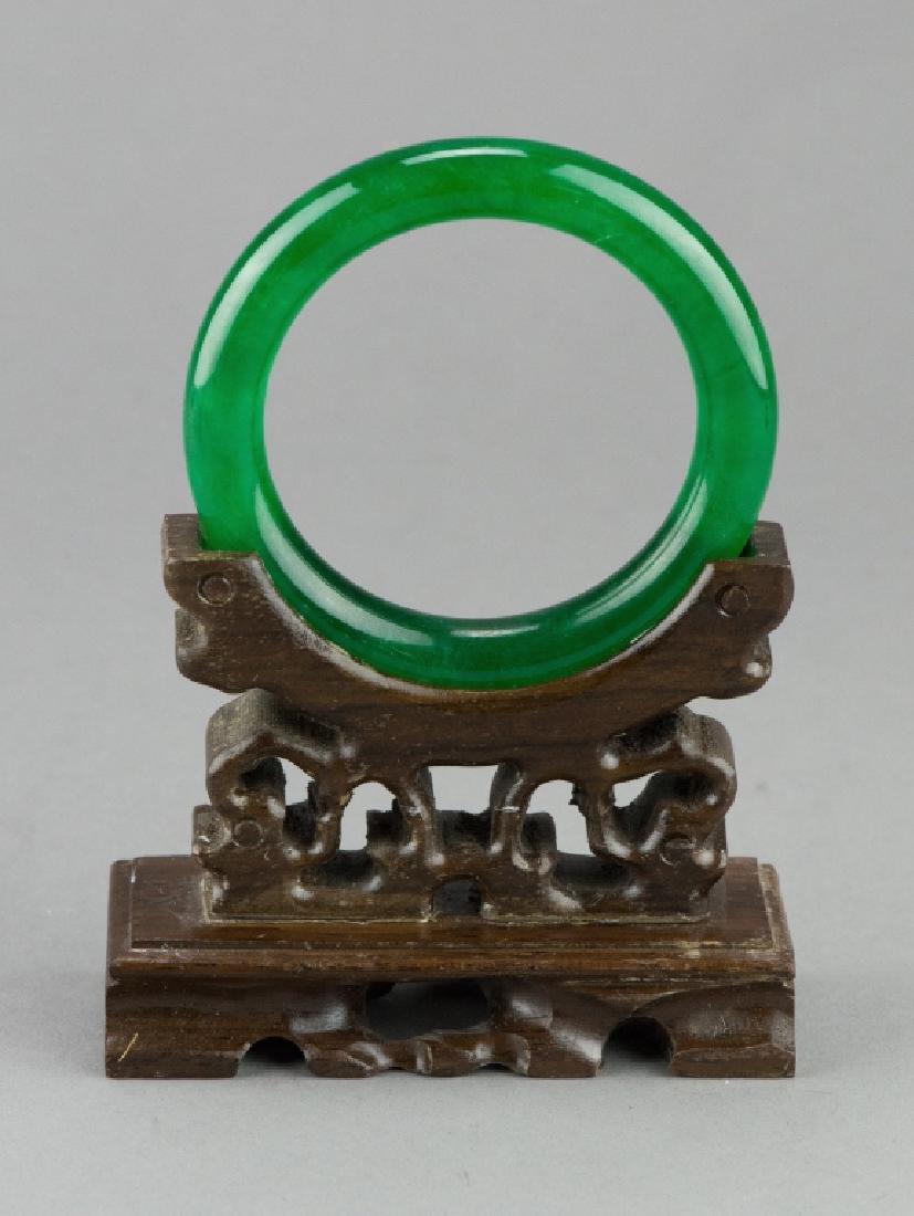 Chinese Emerald Green Jadeite Bangle