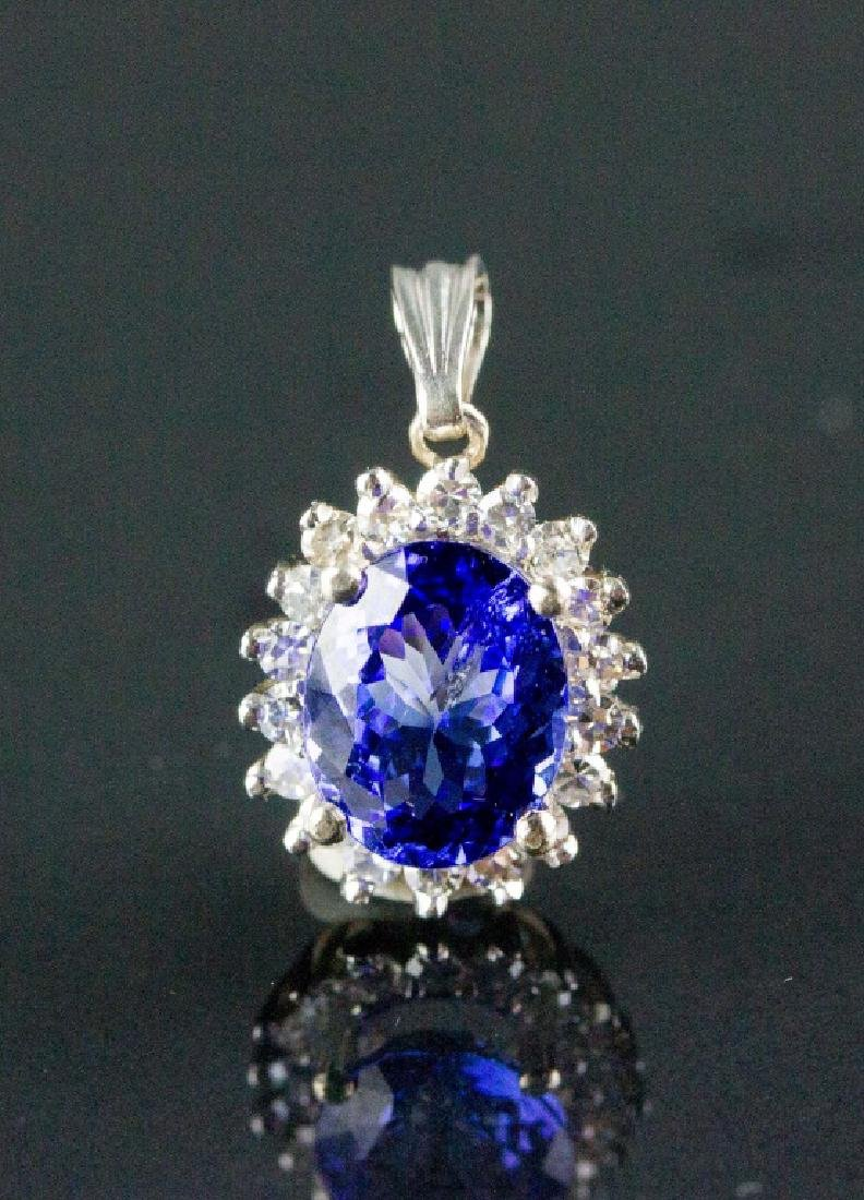 3.26ct Tanzanite & 0.48ct Diamond Pendant CRV$4785