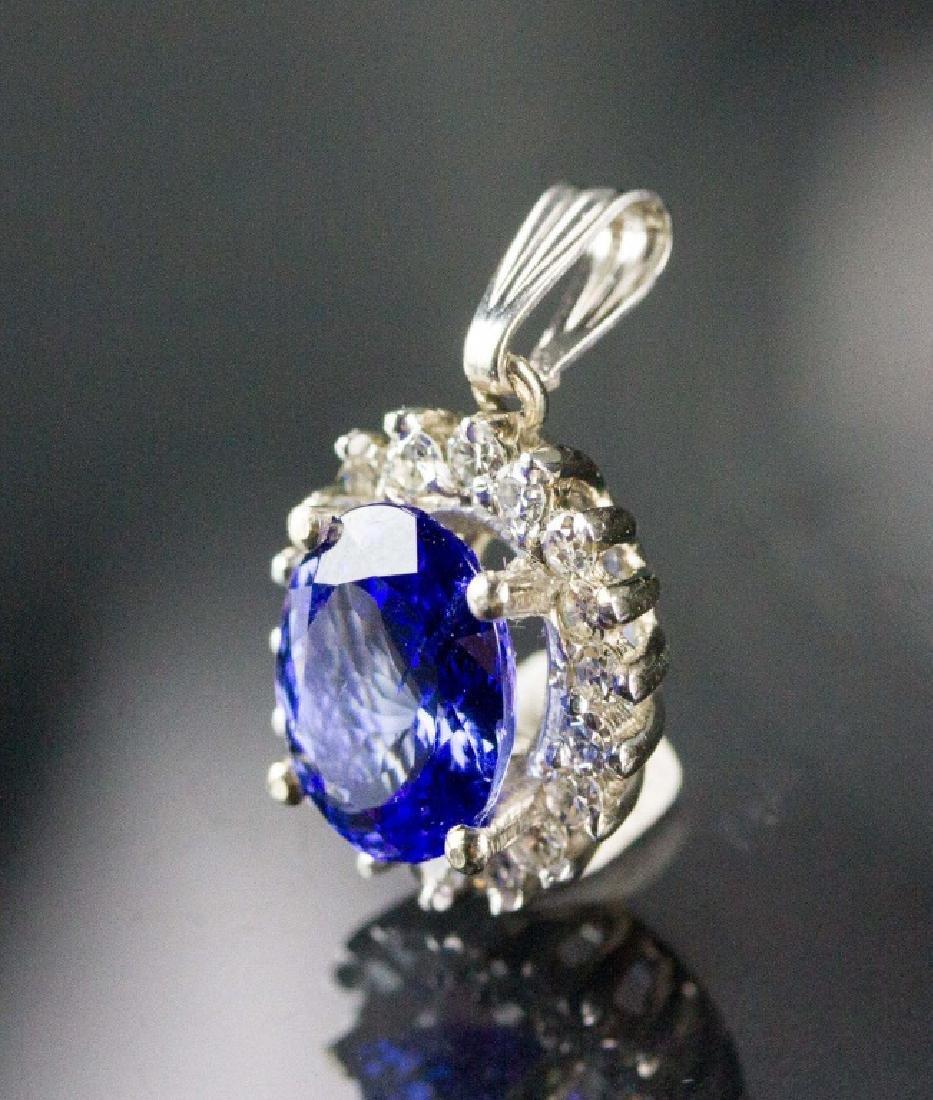 3.26ct Tanzanite & 0.48ct Diamond Pendant CRV$4785 - 2
