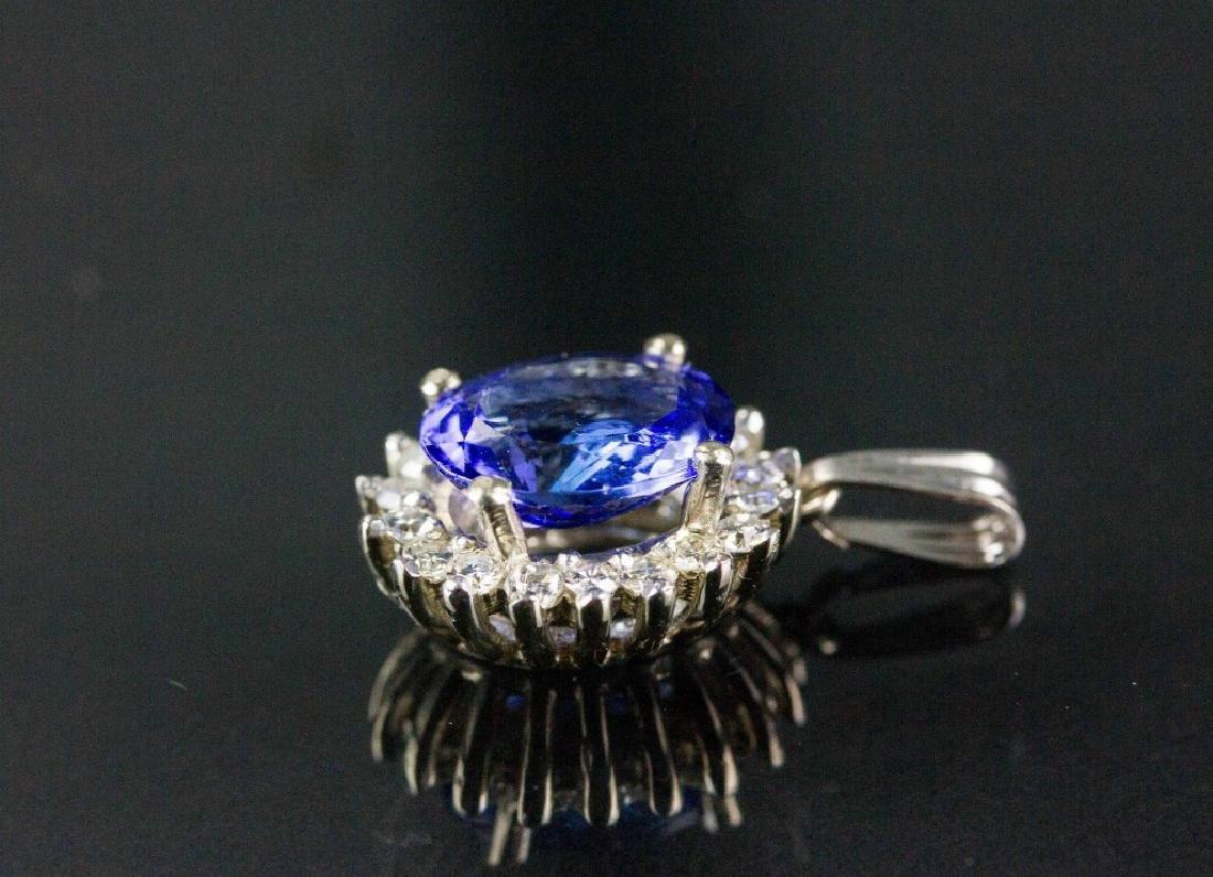 3.26ct Tanzanite & 0.48ct Diamond Pendant CRV$4785 - 3