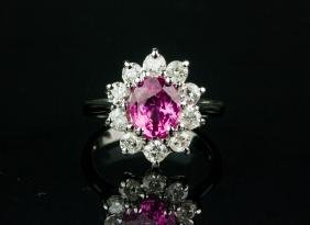 2.00ct Sapphire and 1.00ct Diamond Ring CRV$19525