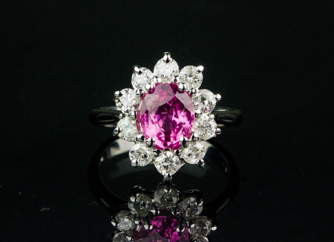 2.00ct Sapphire and 1.00ct Diamond Ring CRV$19525