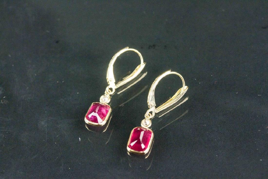 3.70ct Ruby and 0.08ct Diamond Earrings CRV$1430 - 3