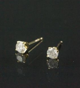 0.30ct Diamond 14k Gold Earrings CRV$600