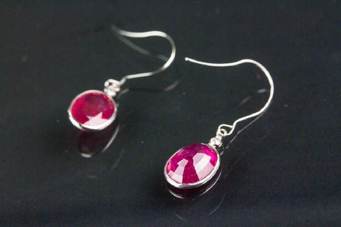 10.30ct Ruby and 0.08ct Diamond Earrings CRV$3094 - 2