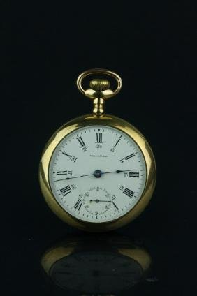 Waltham Men's Gold Plated Pocket Watch