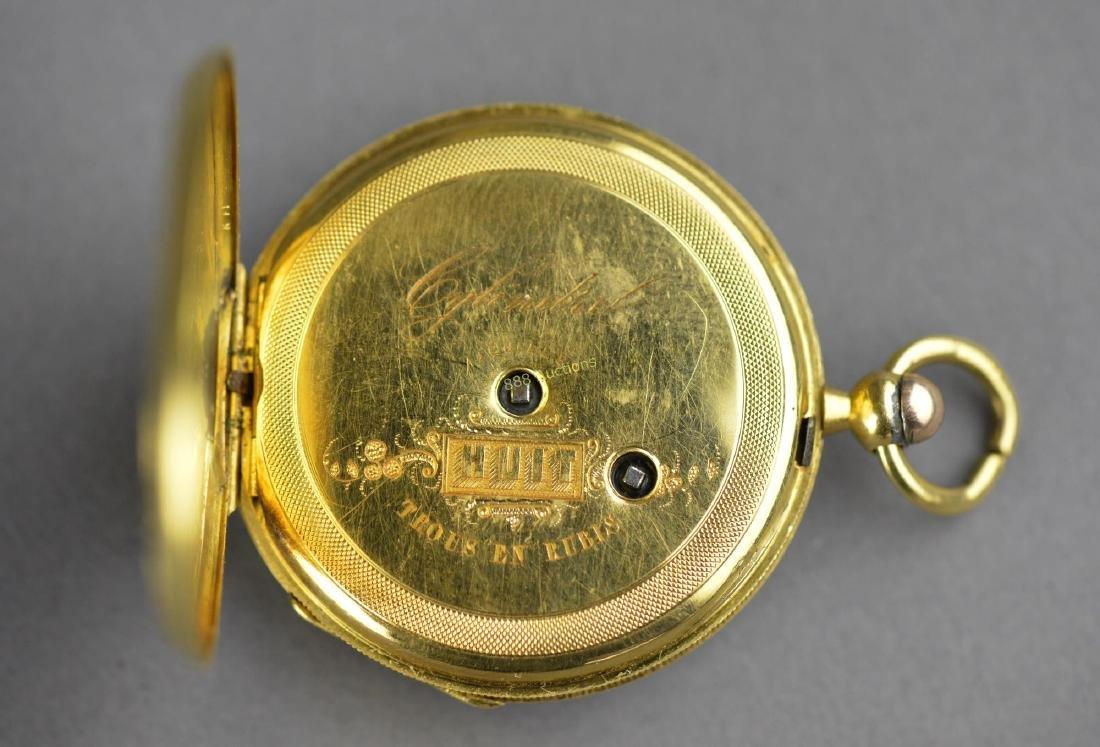 Antique Chinese Cylinder Pocket Watch with Key - 4