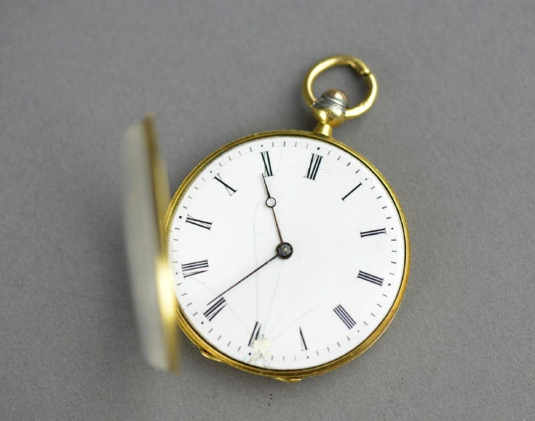 Antique Chinese Cylinder Pocket Watch with Key - 5