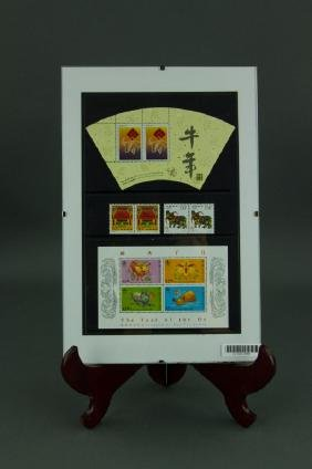 Display Year of Ox Stamps