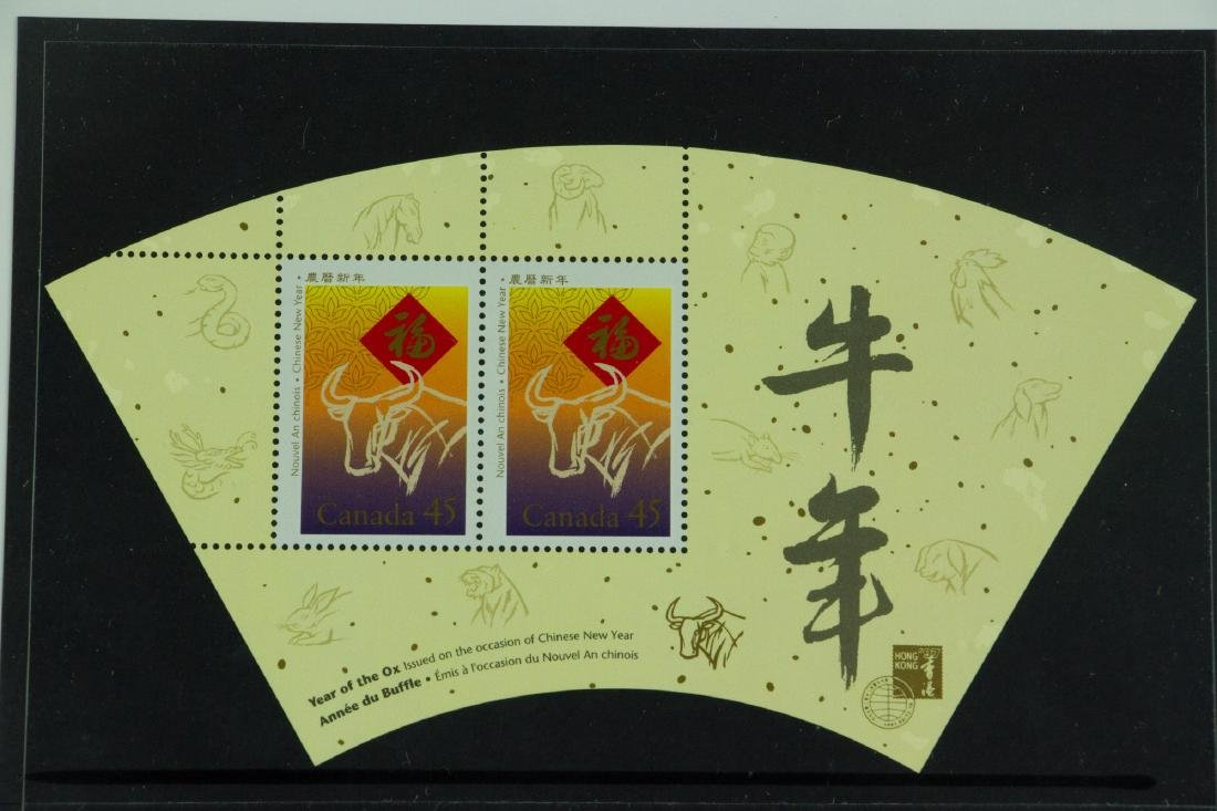 Display Year of Ox Stamps - 2