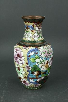 Chinese Small Cloisonne Bronze Vase