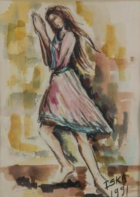 Iska Canadian Watercolour on Paper Framed C.1991