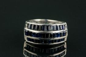 3.0ct Sterling Silver Sapphire Ring CRV $917