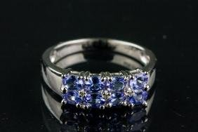 1.48ct Tanzanite and White Topaz Ring CRV$1000