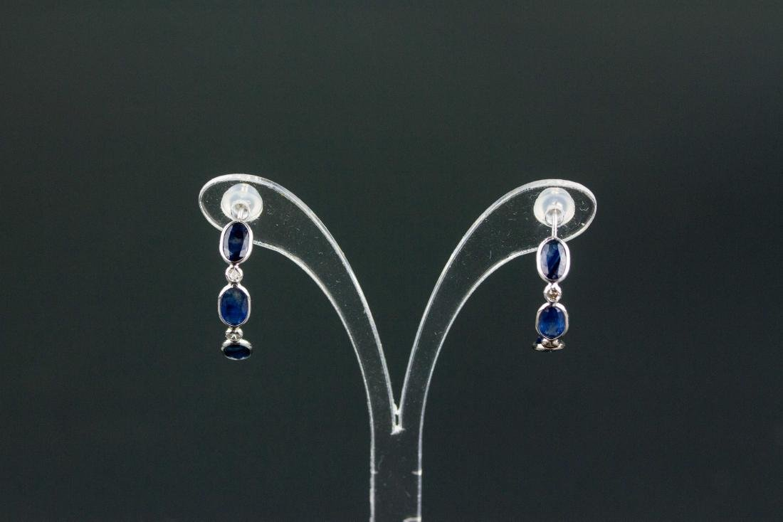 3.5ct Sapphire & 0.2ct Diamond Earrings CRV $1600