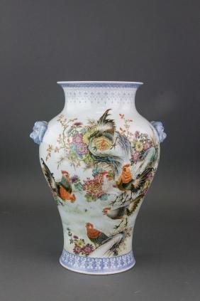 Chinese Porcelain Vase Liu Yucen
