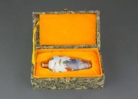 Chinese Famille Rose Gilt Porcelain Vase Qianlong