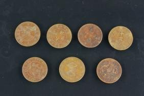 7 Pc  Assorted Chinese Bronze Coins
