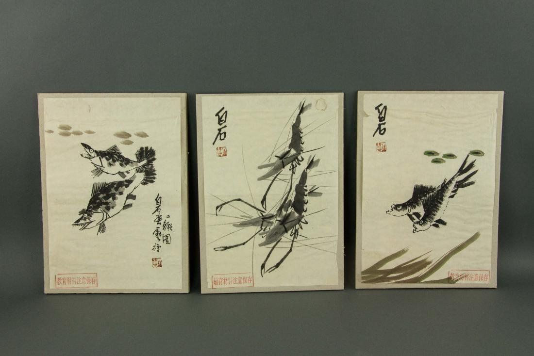 Qi Baishi 1864-1957 5 Pc Watercolour on Paper