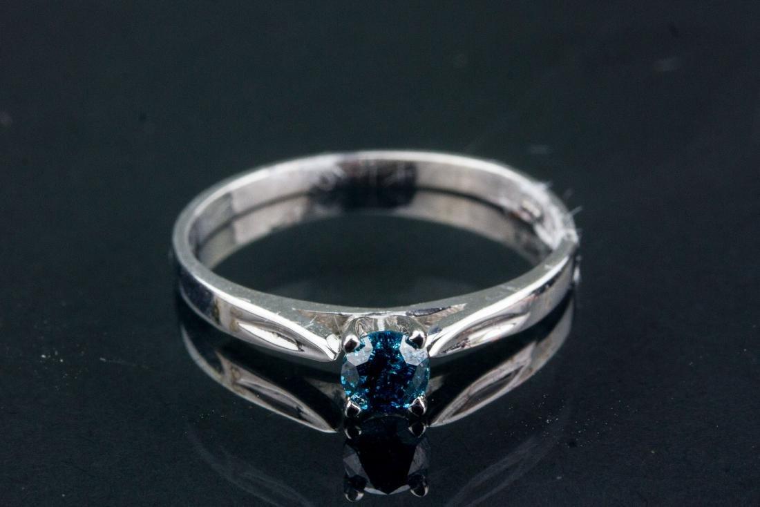 14kt White Gold 0.21ct Blue Diamond CRV $900