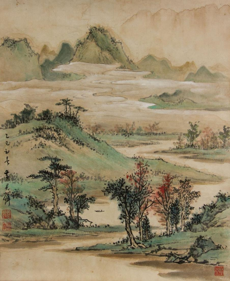 Huang Junbi 1898-1991 Chinese Watercolour on Paper