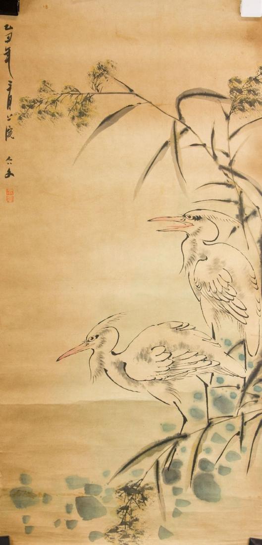 Liu Wen Chinese Watercolour on Paper