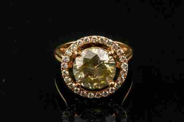 4.10ct Diamond Rose Gold Ring CRV$ 65,000