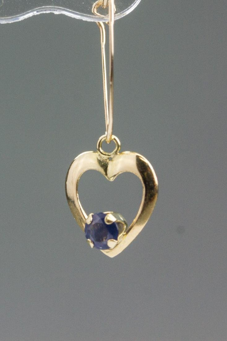 10kt Yellow Gold 0.50ct Sapphire Earrings RV$600