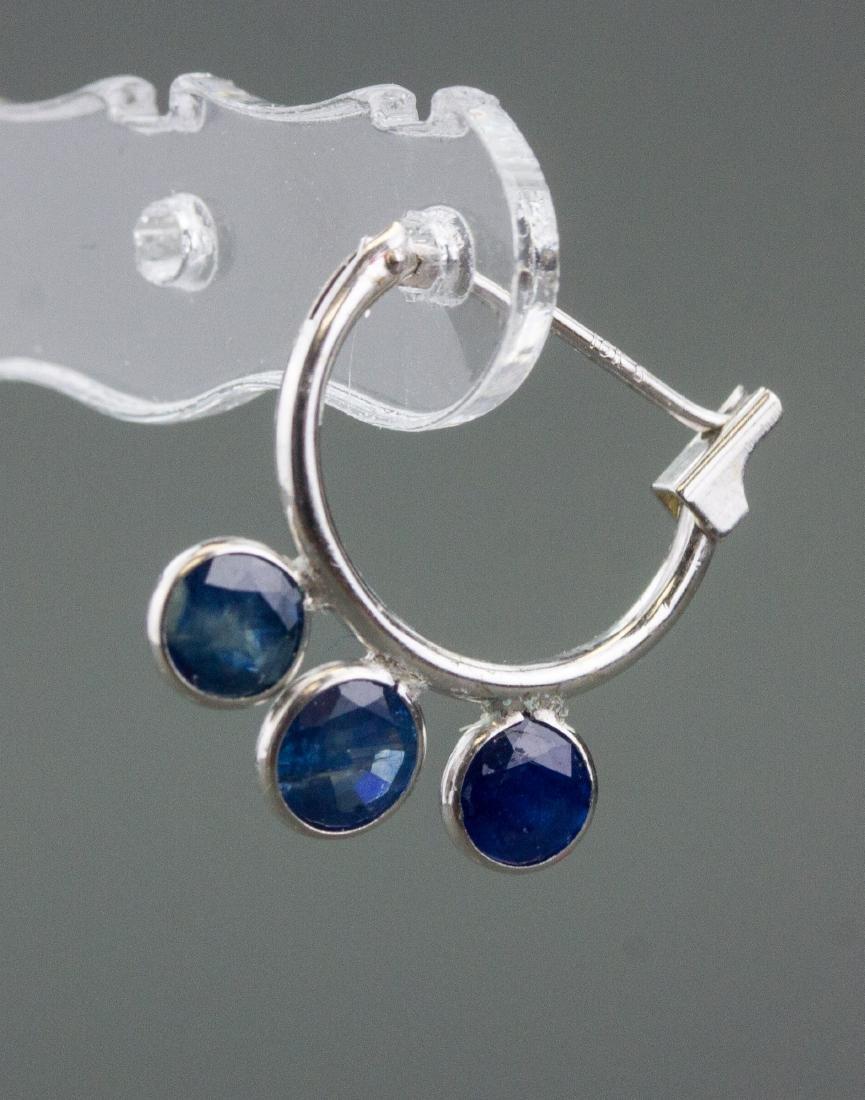 10kt White Gold 2.50ct Sapphire Earrings CRV$750
