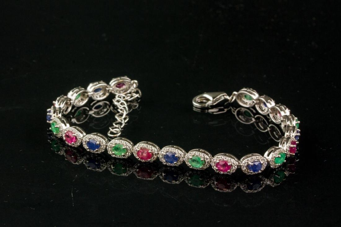 9.0ct Emerald Ruby & Sapphire Bracelet CRV$1655