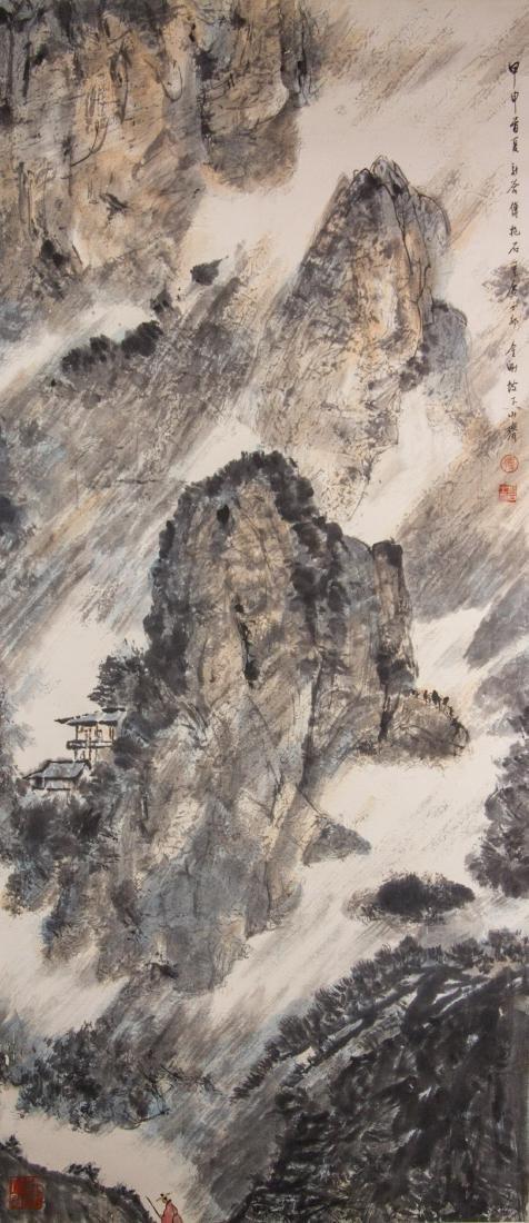Fu Baoshi 1904-1965 Chinese Watercolour Paper Roll
