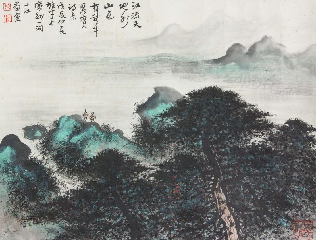 Li Xiongcai 1910-2001 Watercolour on Paper Roll