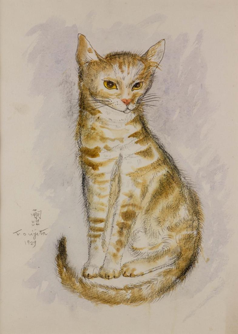 Tsuguharu Foujita 1886-1968 Japanese Watercolour