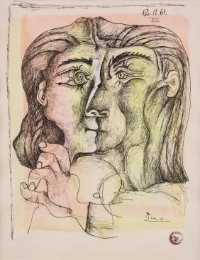 Pablo Picasso 1881-1973 Spanish Serigraph Framed