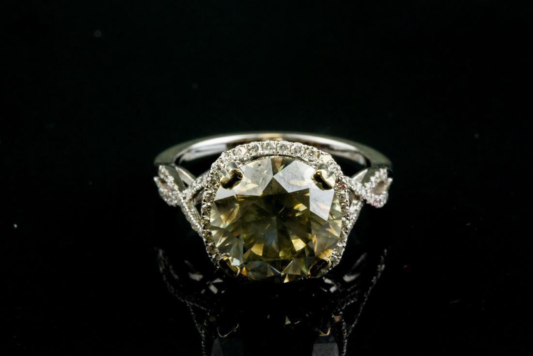 5.08ct Diamond & 0.35ct Diamond Ring CRV $127000
